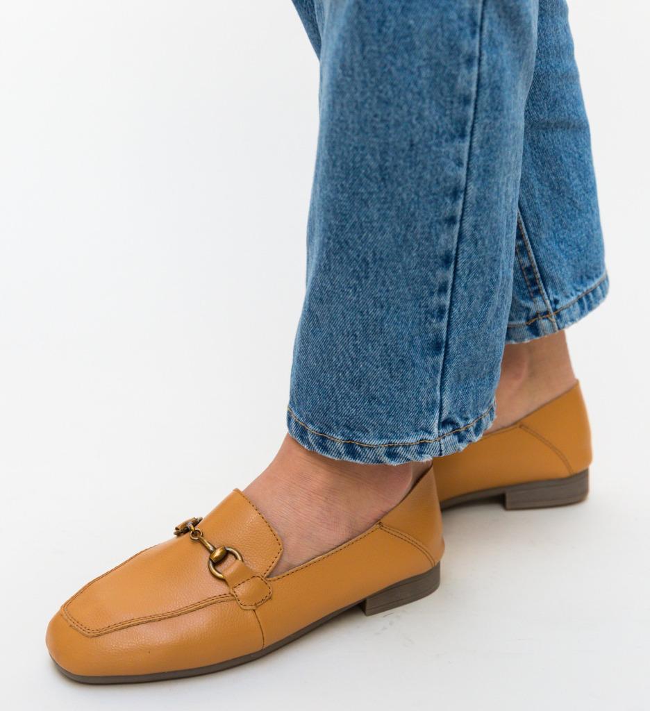 Pantofi Casual Caracom Camel