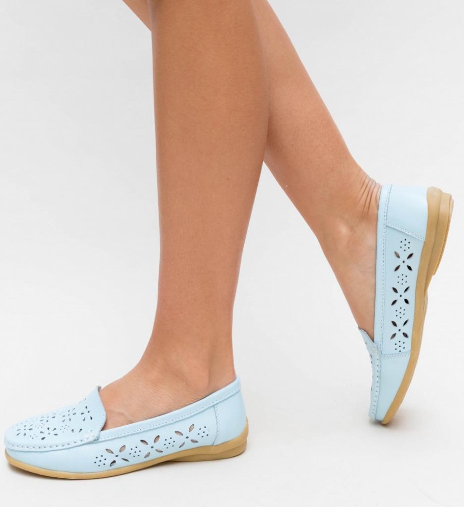 Pantofi Casual Debar Albastri imagine