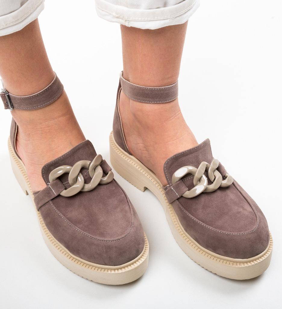 Pantofi Casual Dimic Khaki