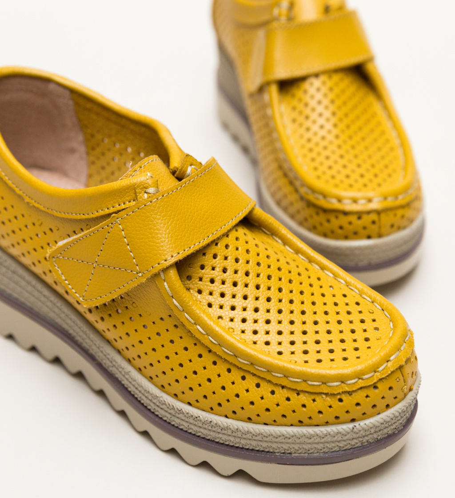 Pantofi Casual Histria Galbeni