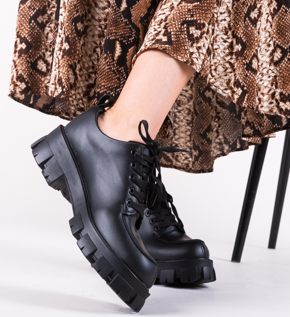 Pantofi Casual Indigal Negri