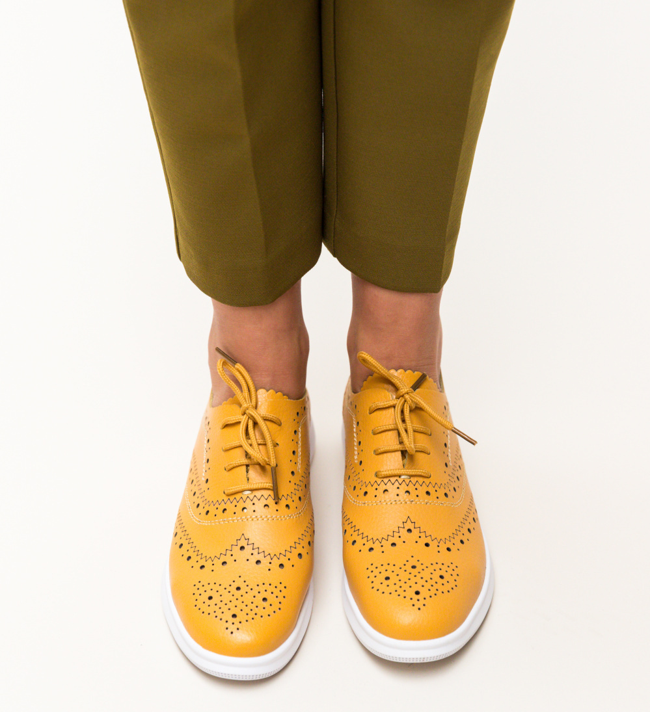 Pantofi Casual Indigo Galbeni