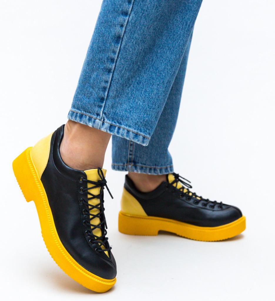 Pantofi Casual Lukano Galbeni 2