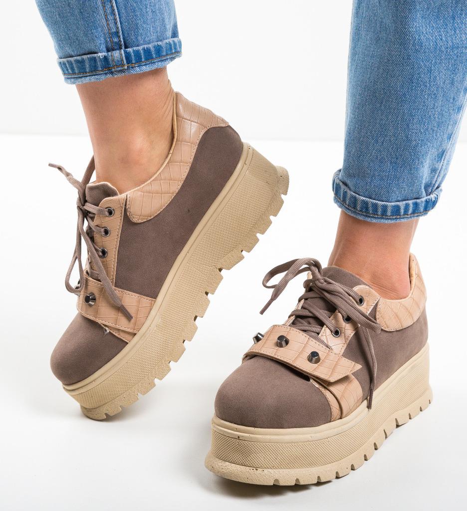Pantofi Casual Niminigan Bej