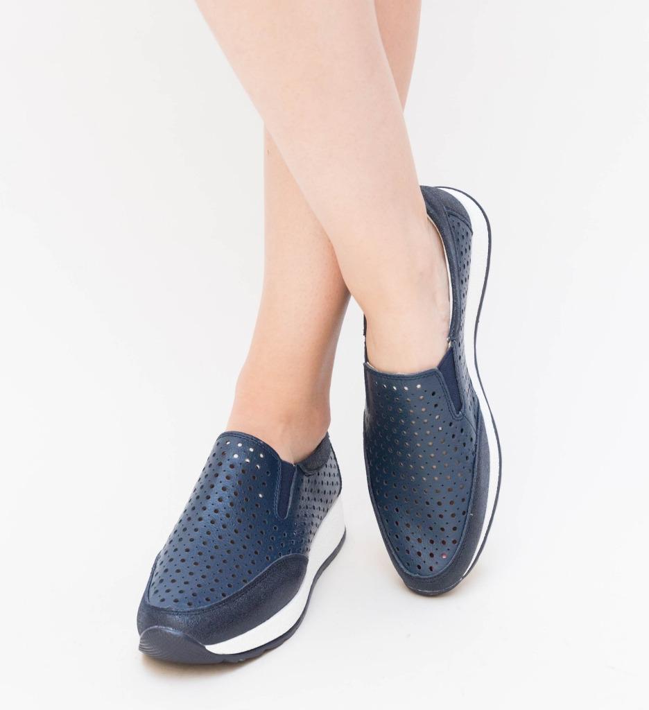 Pantofi Casual Olda Bleumarin imagine