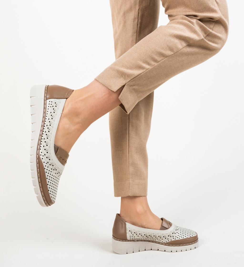 Pantofi Casual Salop Bej