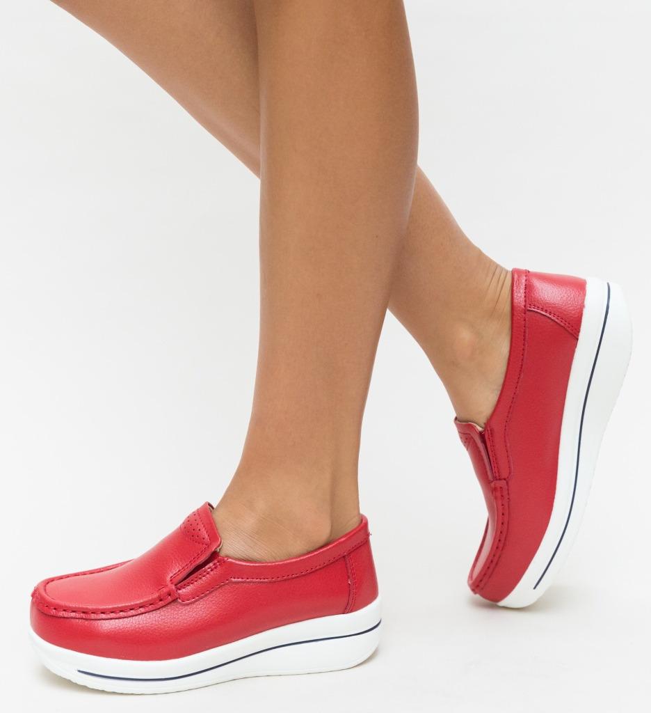Pantofi Casual Verno Rosii imagine