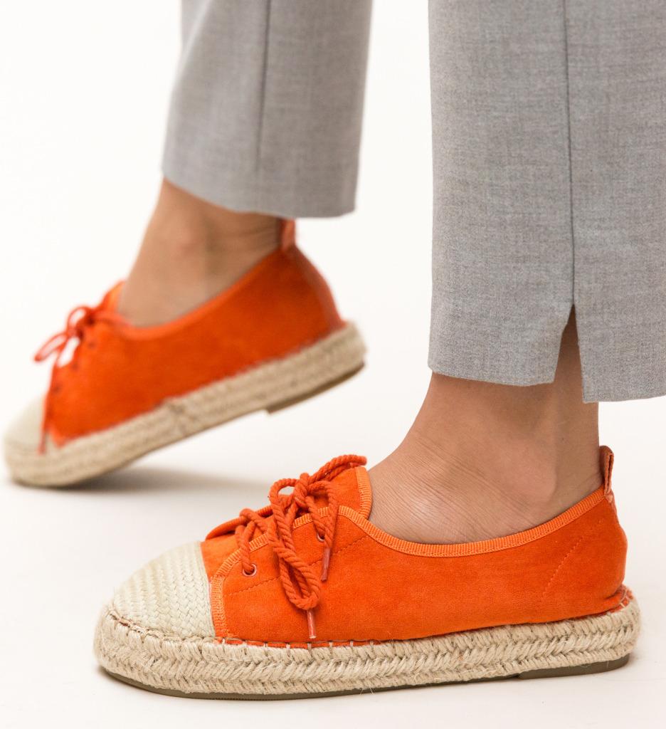 Pantofi Casual Yusuf Portocalii