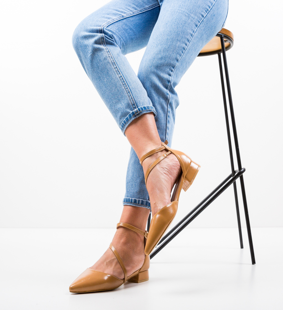Pantofi Jem Camel