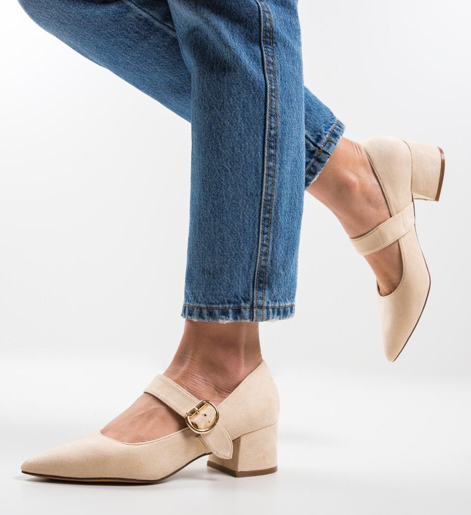 Pantofi Kacy Bej