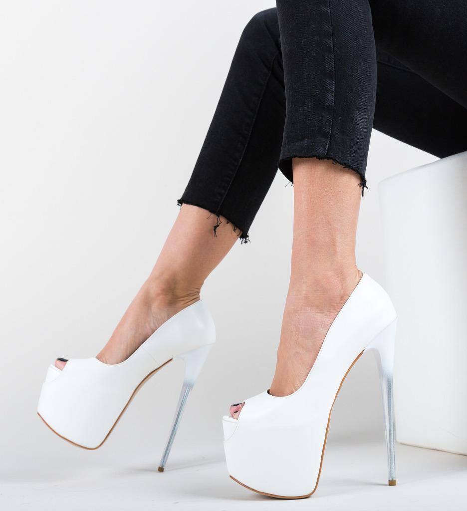 Pantofi Munteako Albi imagine