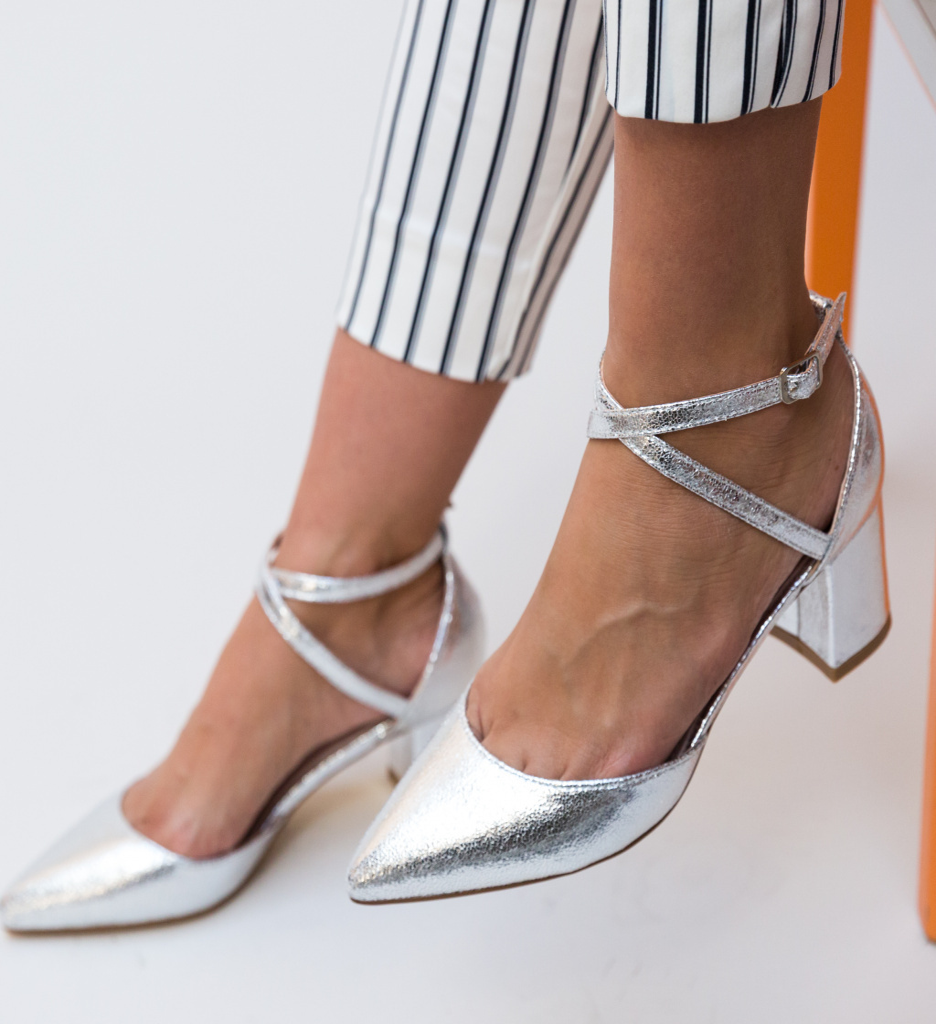 Pantofi Rello Argintii