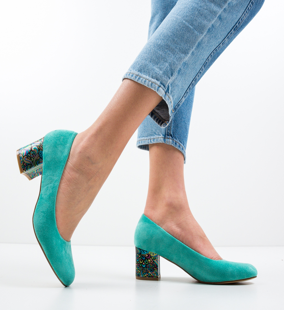Pantofi Sahara Turcoaz