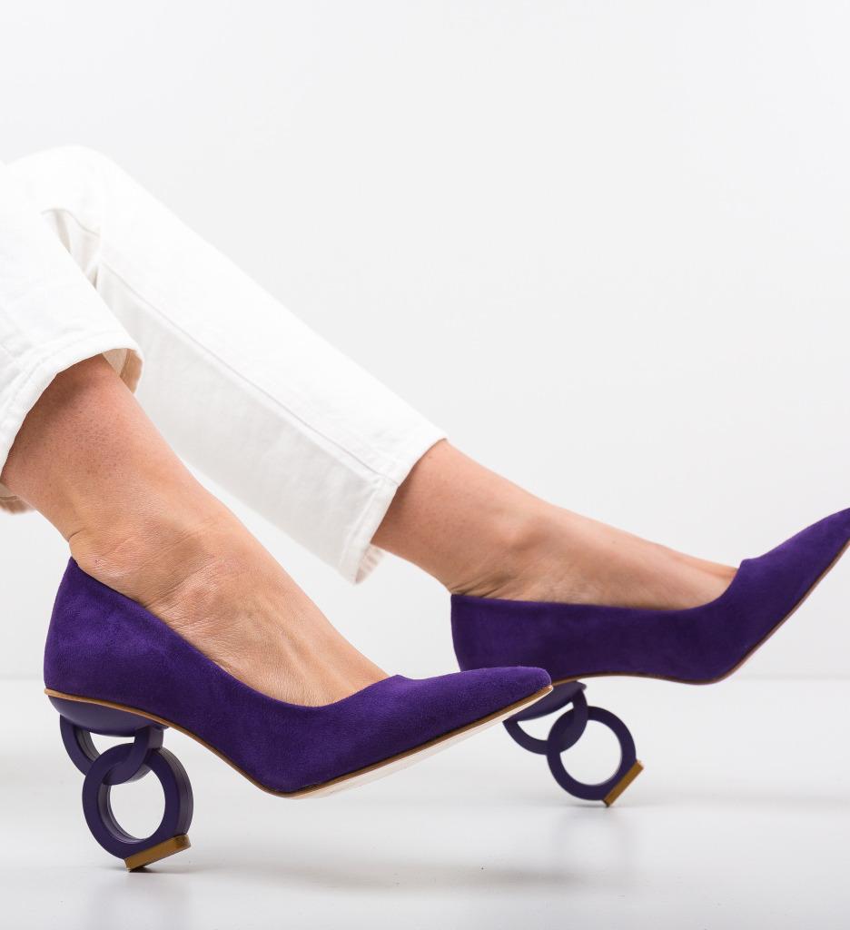 Pantofi Simoni Mov 2