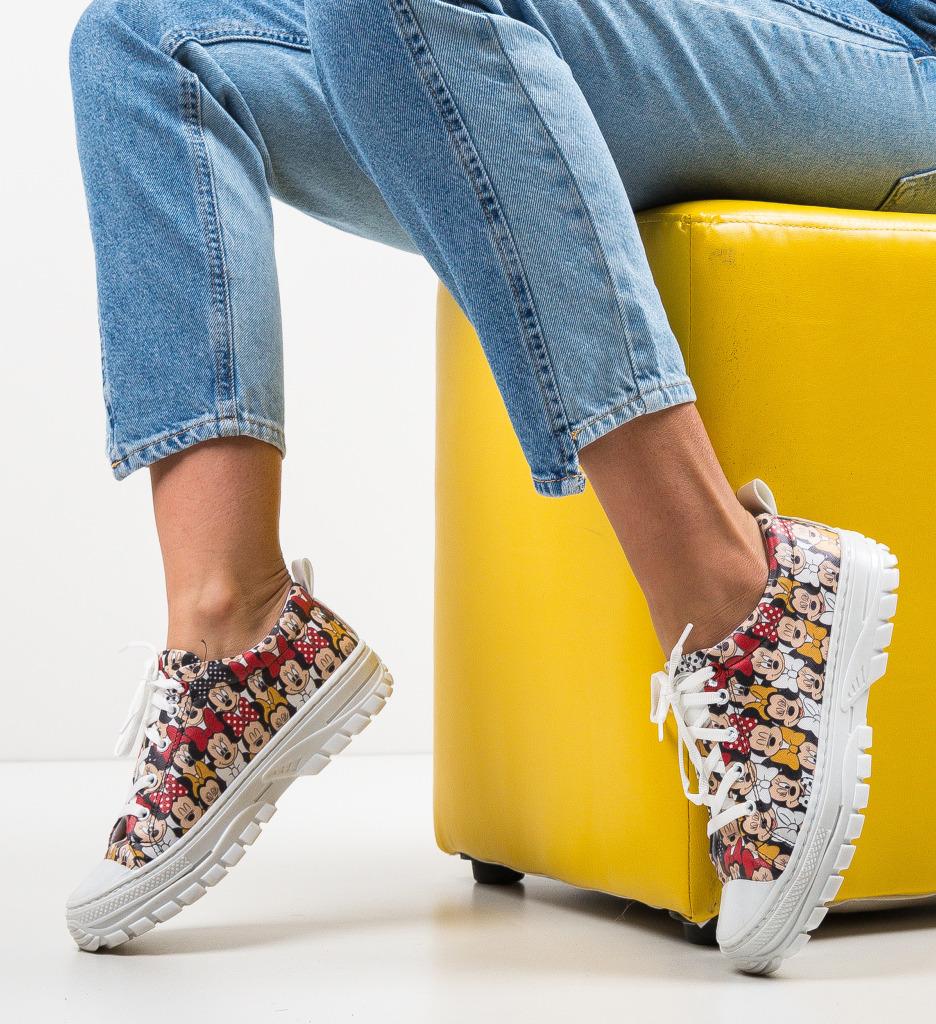 Pantofi Sport Anima Albi