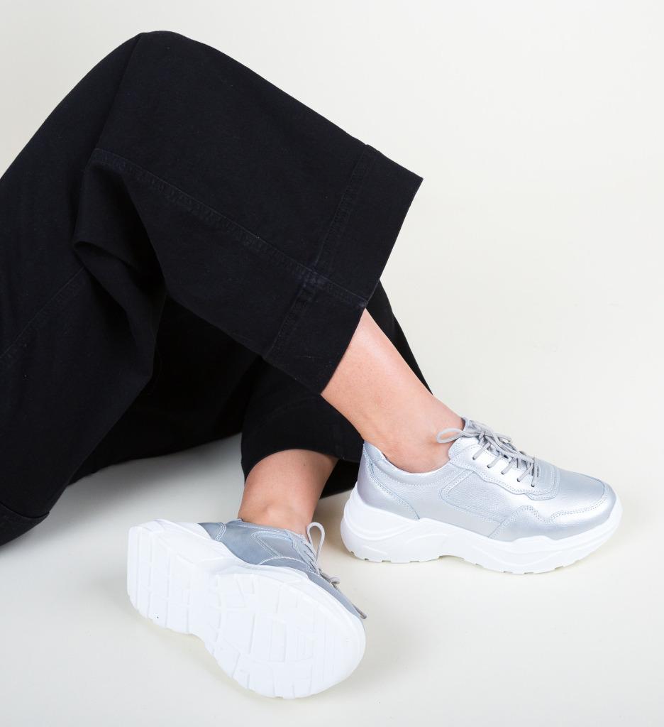 Pantofi Sport Hakim Argintii