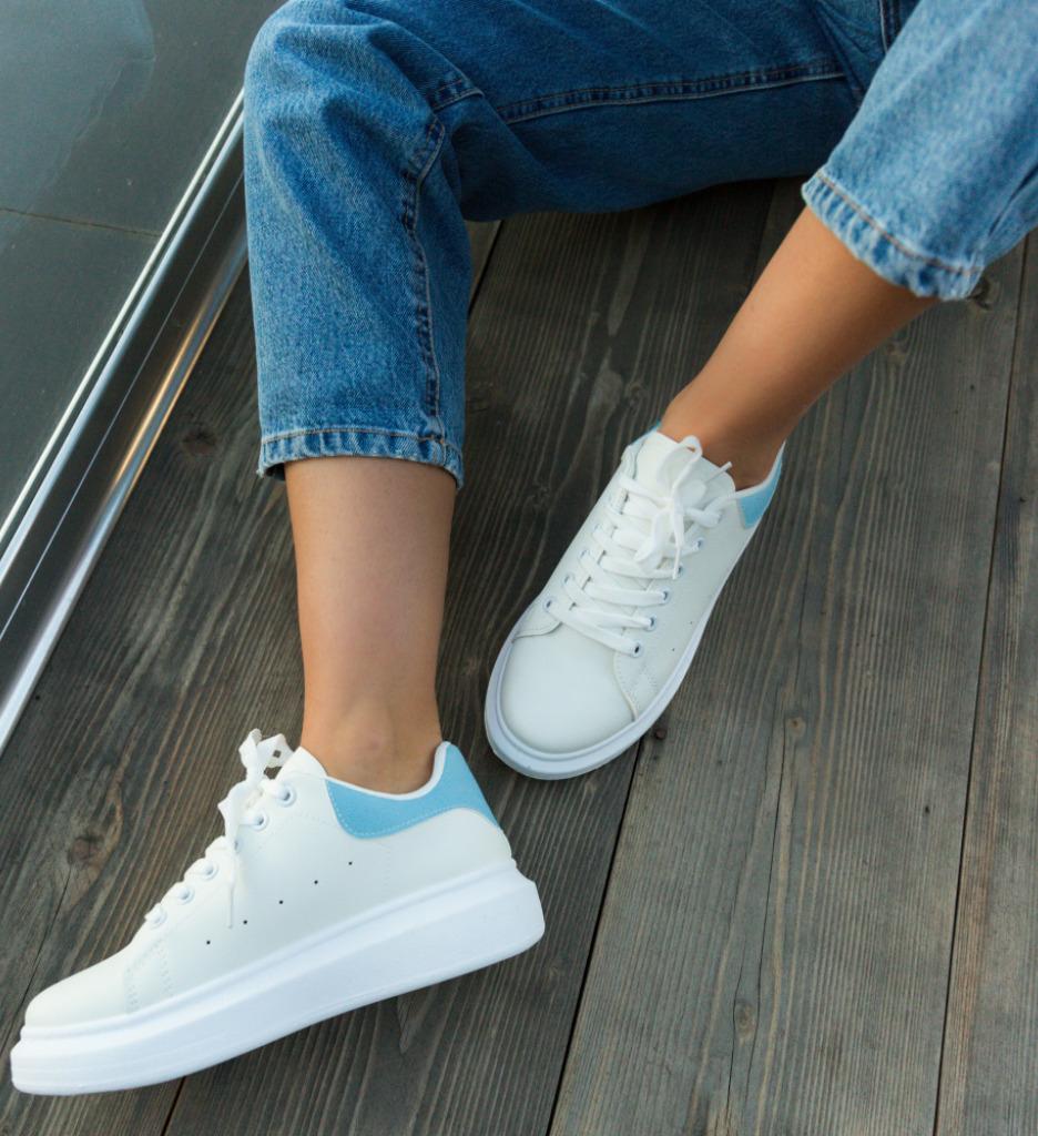 Pantofi Sport Vernona Albi-Albastri