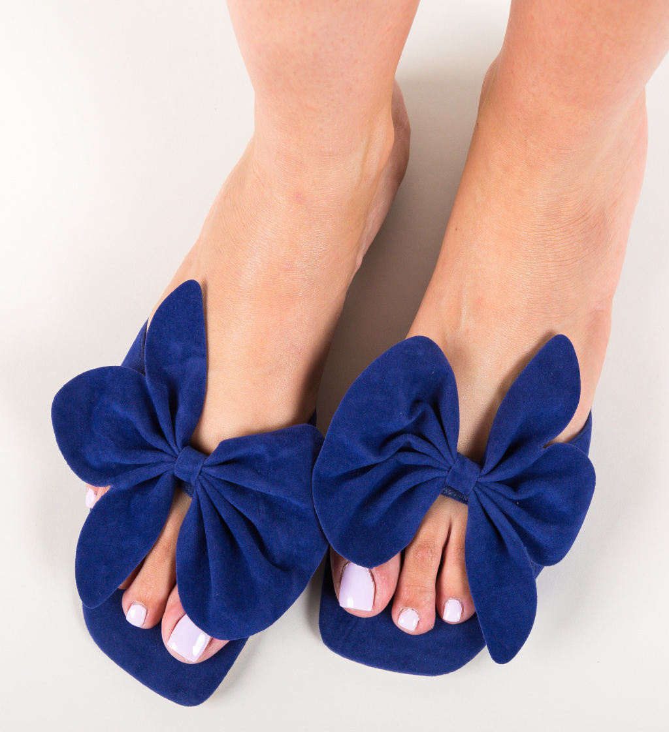 Papuci Dojah Bleumarin