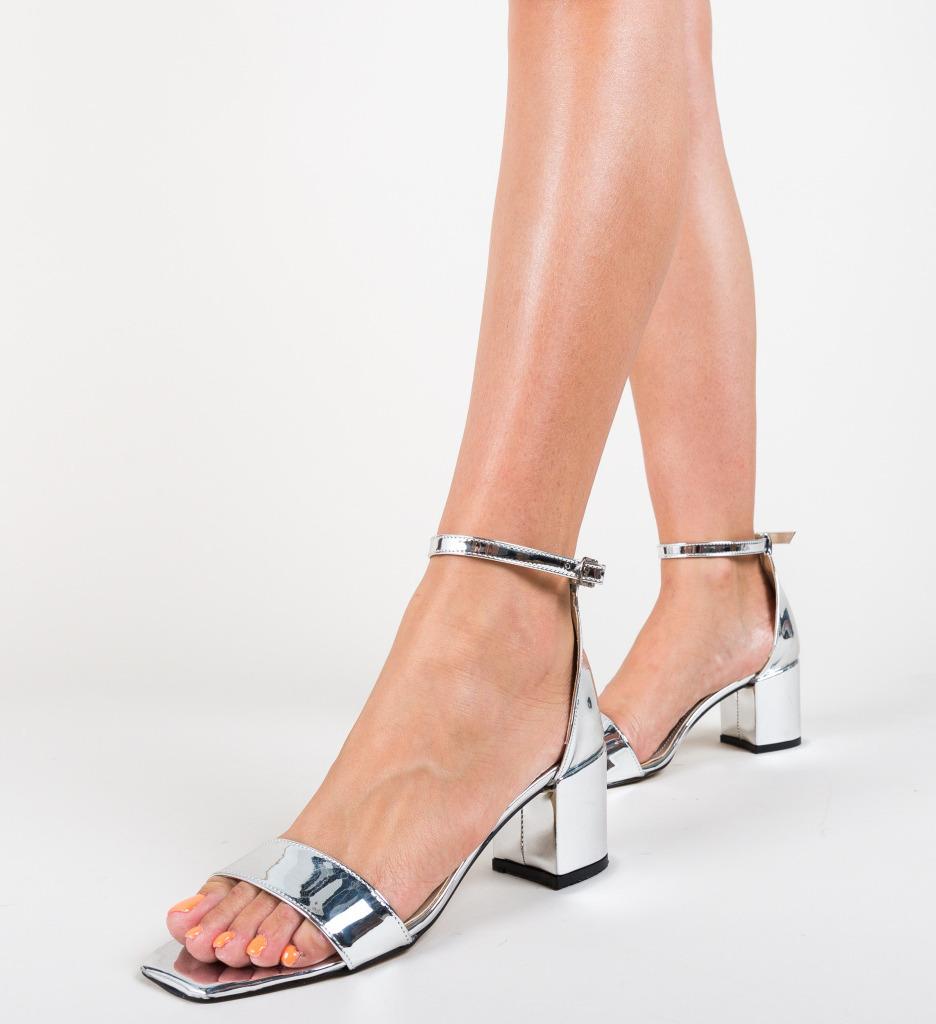 Sandale Agorde Argintii imagine