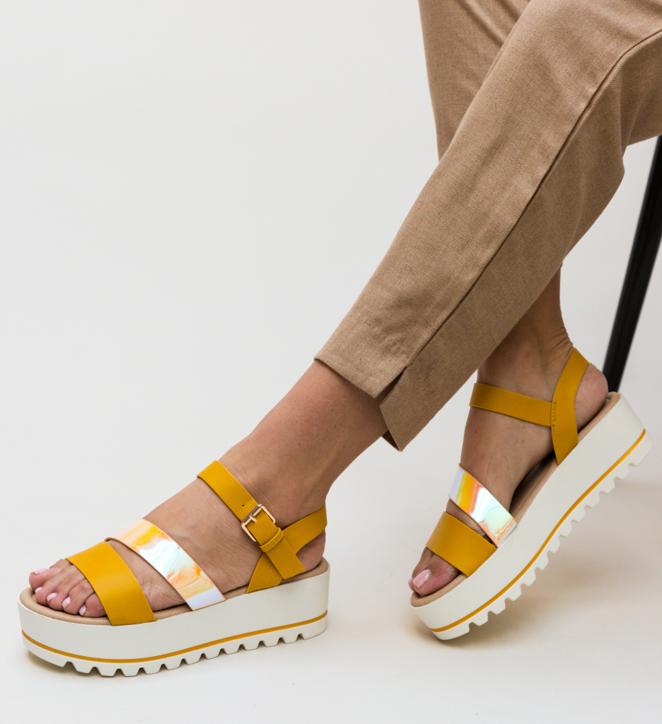 Sandale Bella Galbene