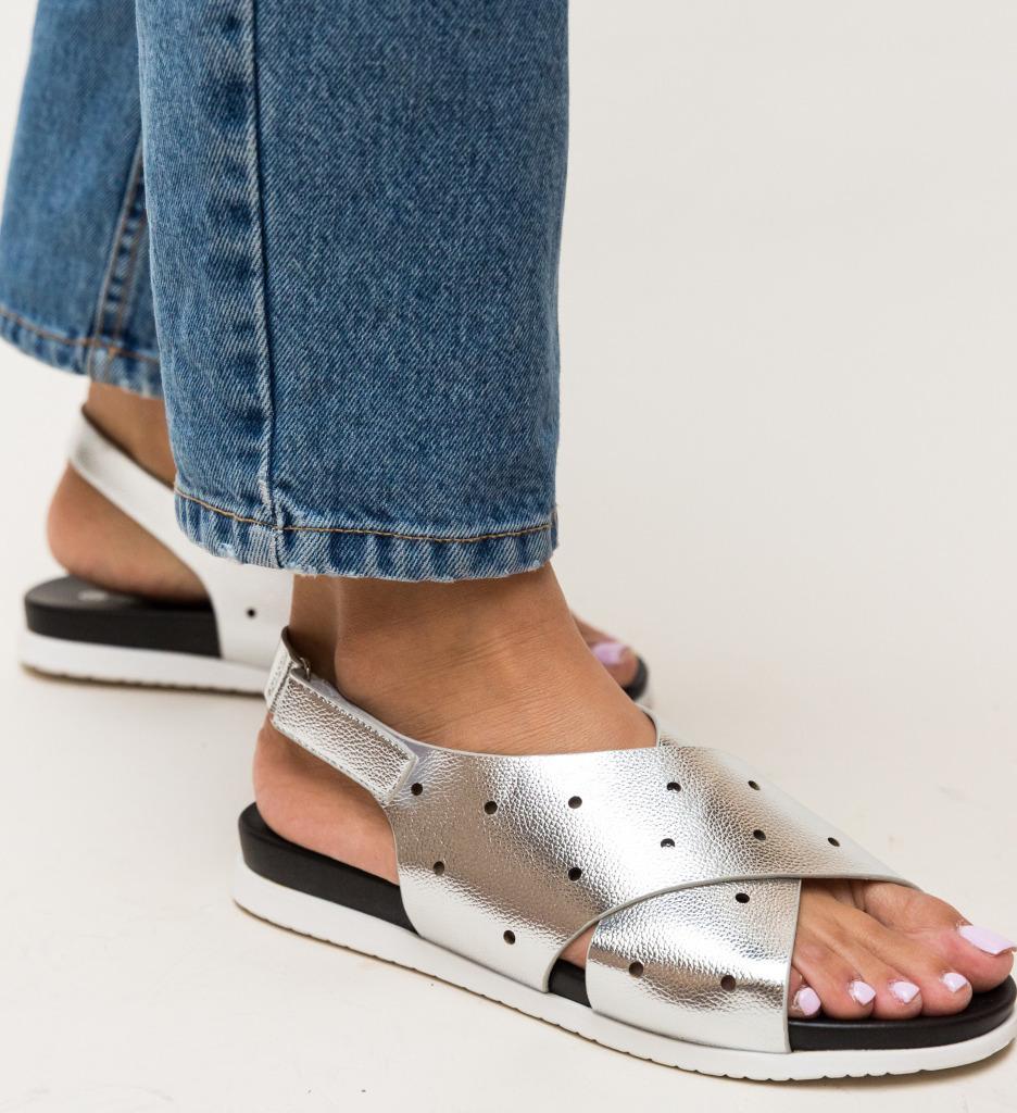 Sandale Dives Argintii