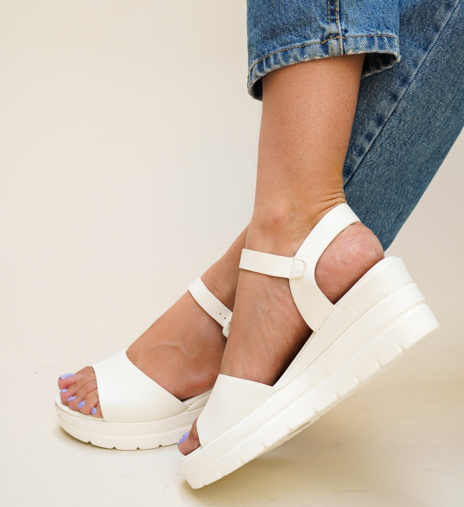 Sandale Nedu Albe