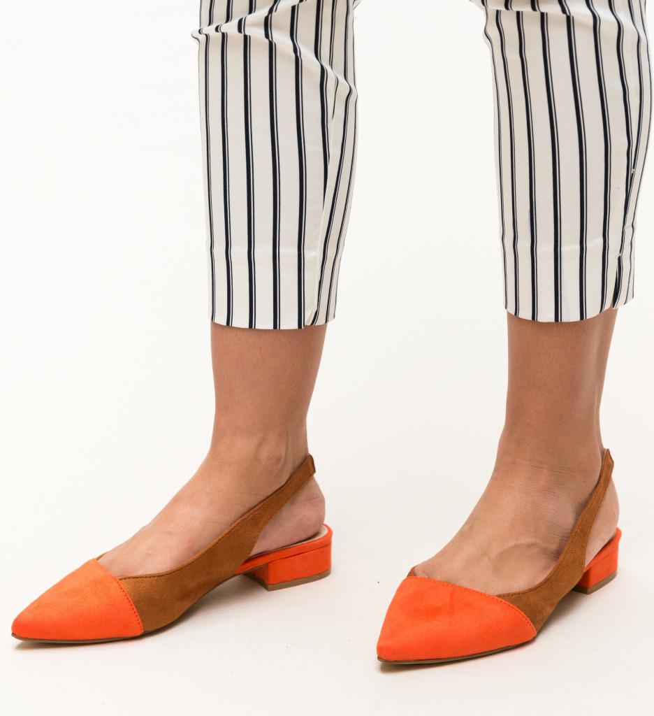 Pantofi Adams Portocalii