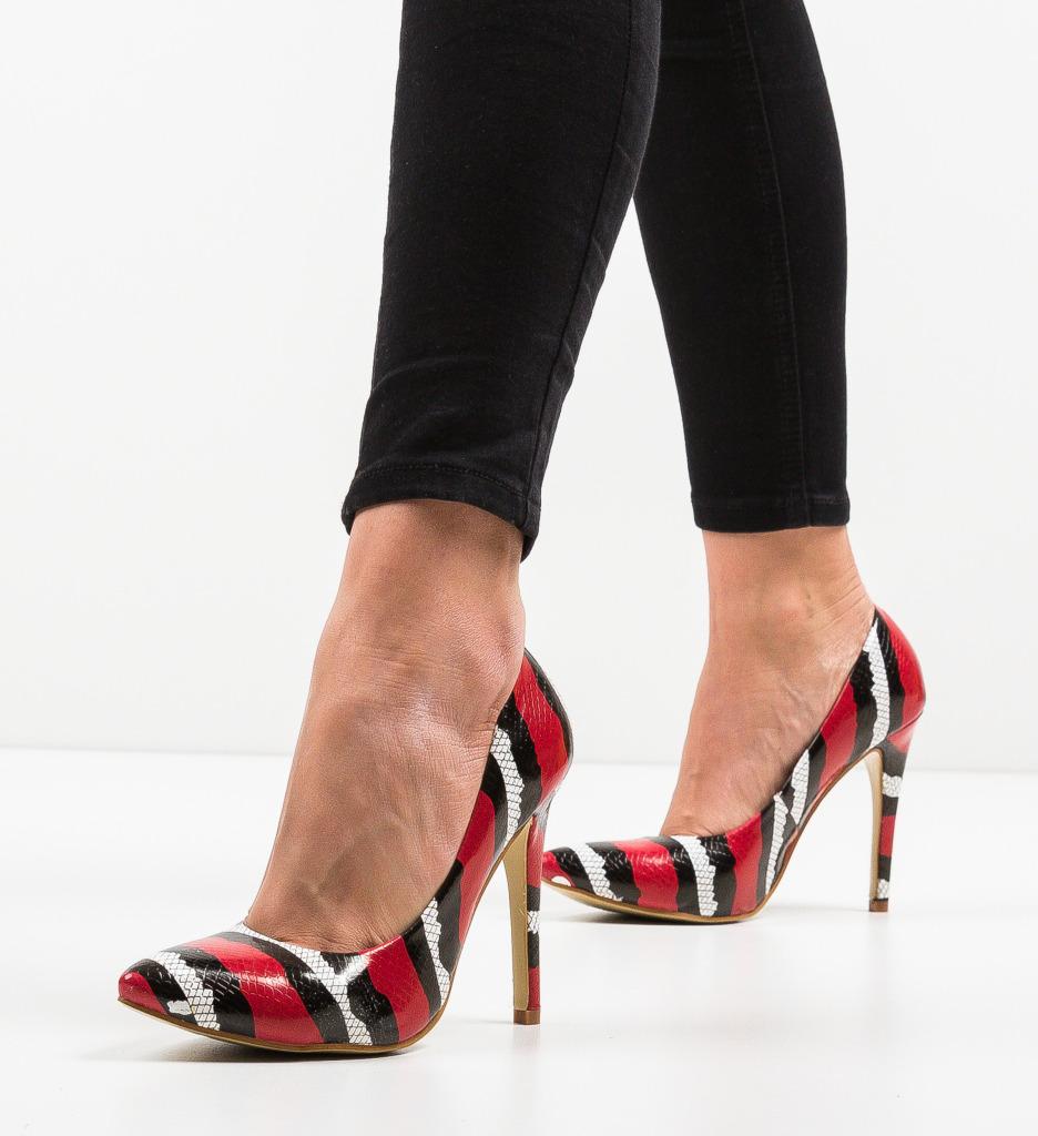 Pantofi Aleah Rosii