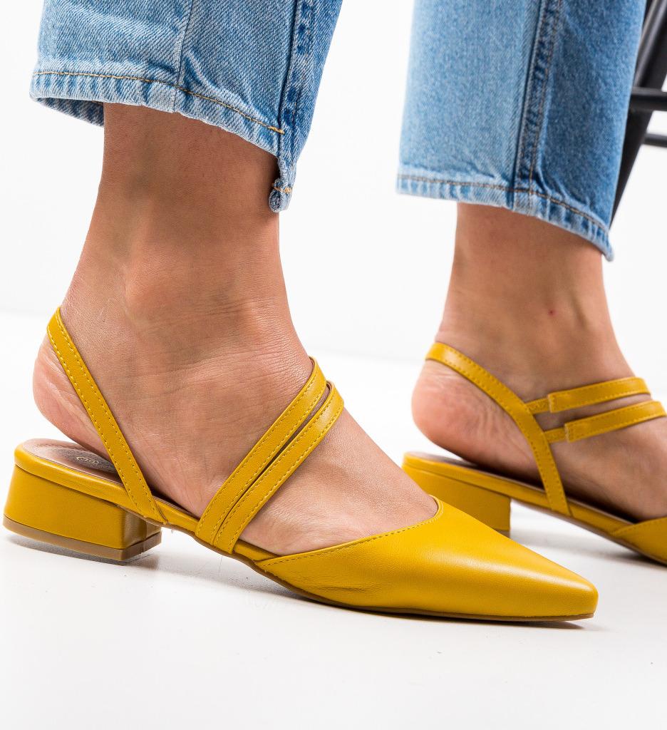Pantofi Brad Galbeni