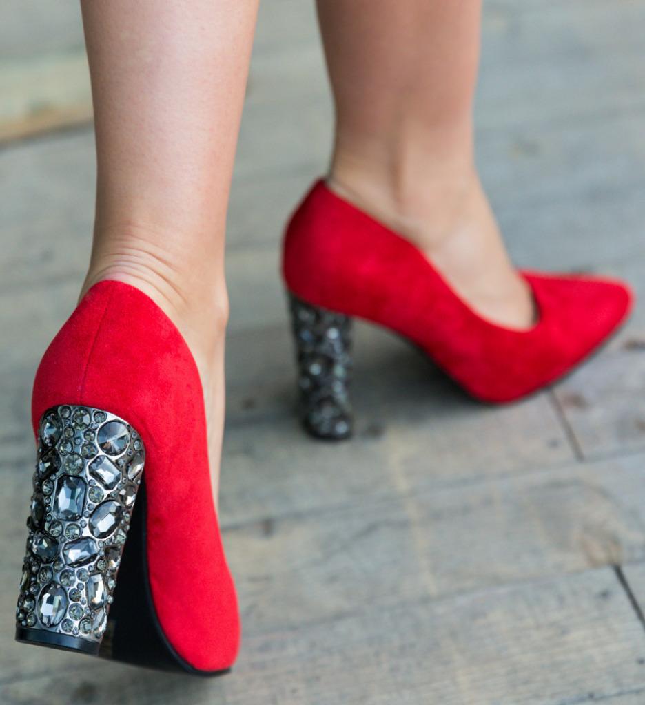 Pantofi Brem Rosii imagine