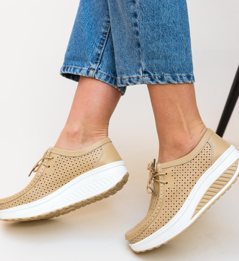 Pantofi Casual Baroco Bej