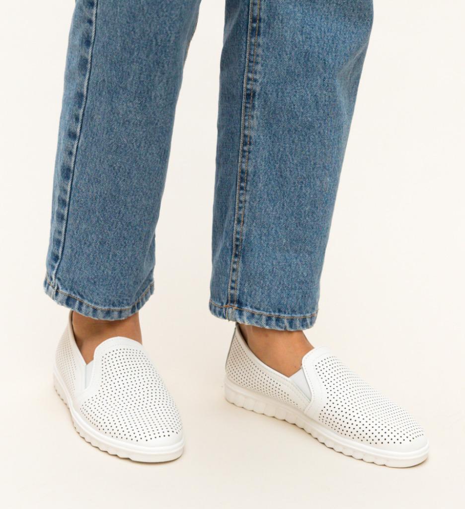 Pantofi Casual Colivi Albi