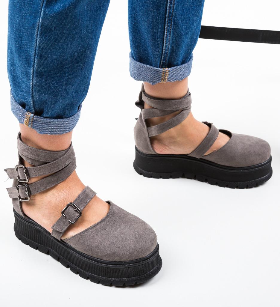 Pantofi Casual Deluxema Gri