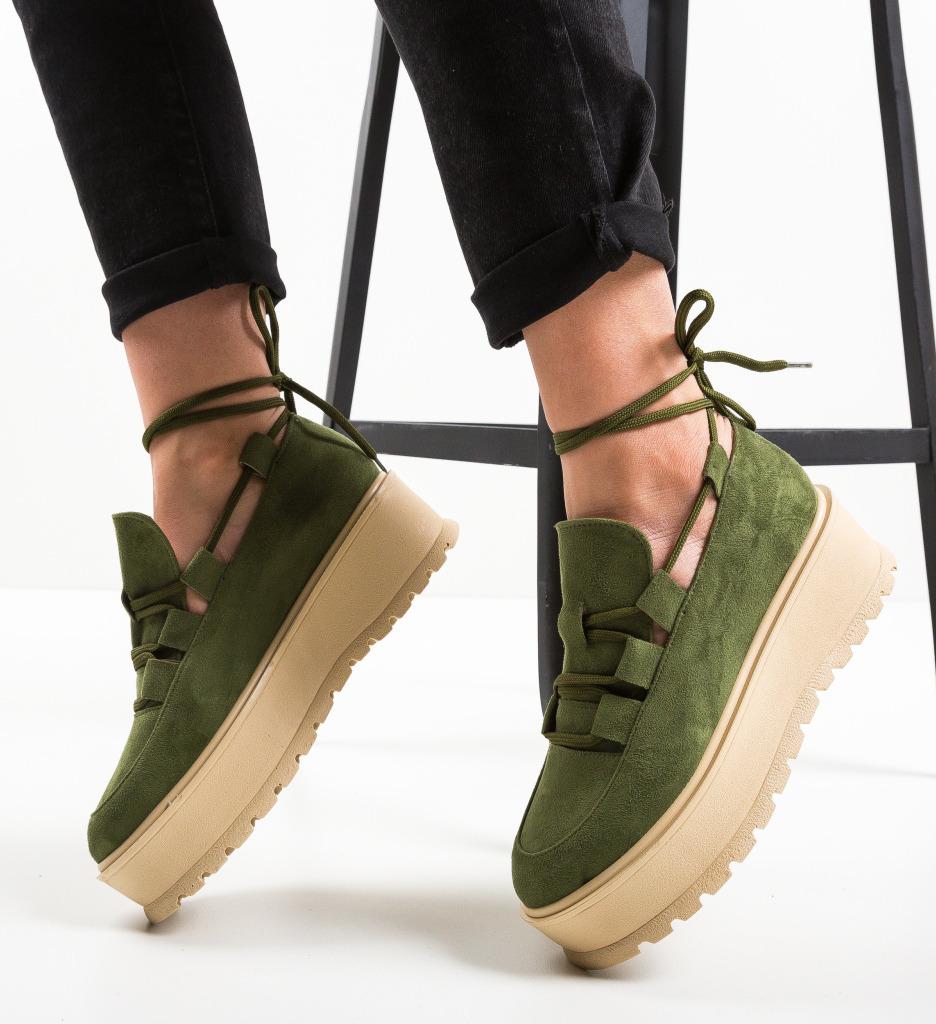 Pantofi Casual Dreaam Verzi