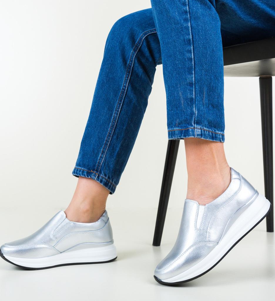 Pantofi Casual Gemma Argintii