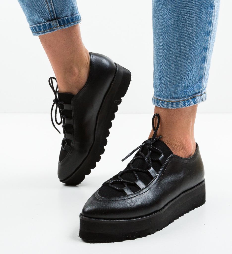 Pantofi Casual Halls Negri