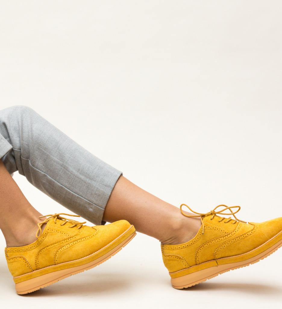 Pantofi Casual Haseeb Galbeni imagine