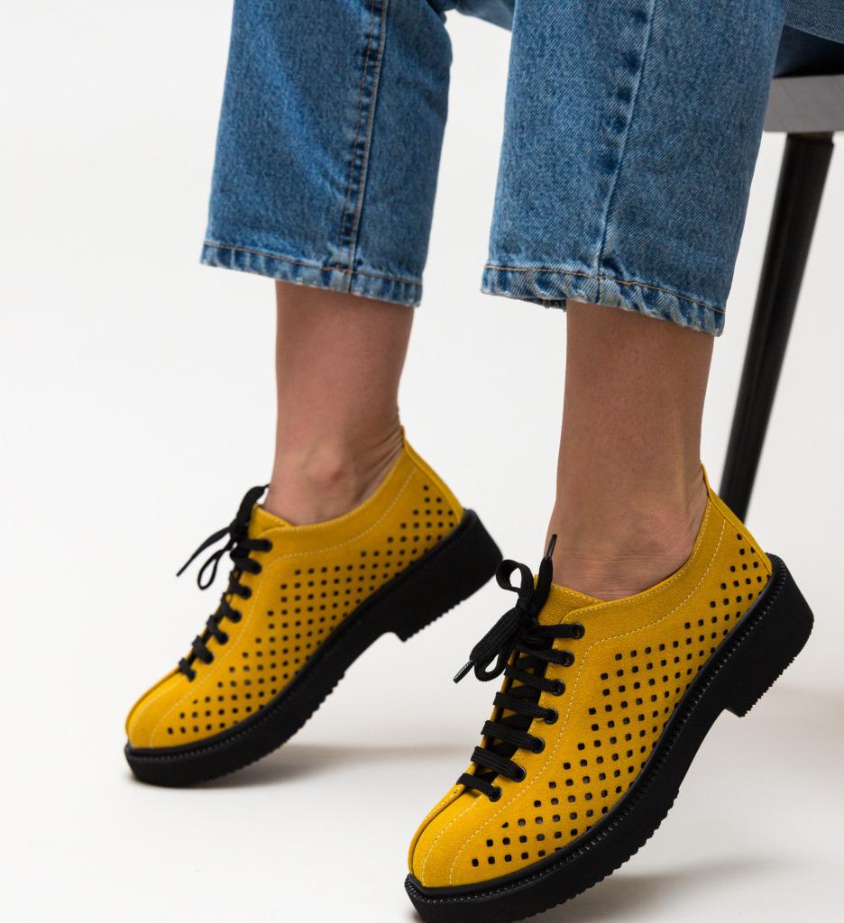 Pantofi Casual Jalba Galbeni