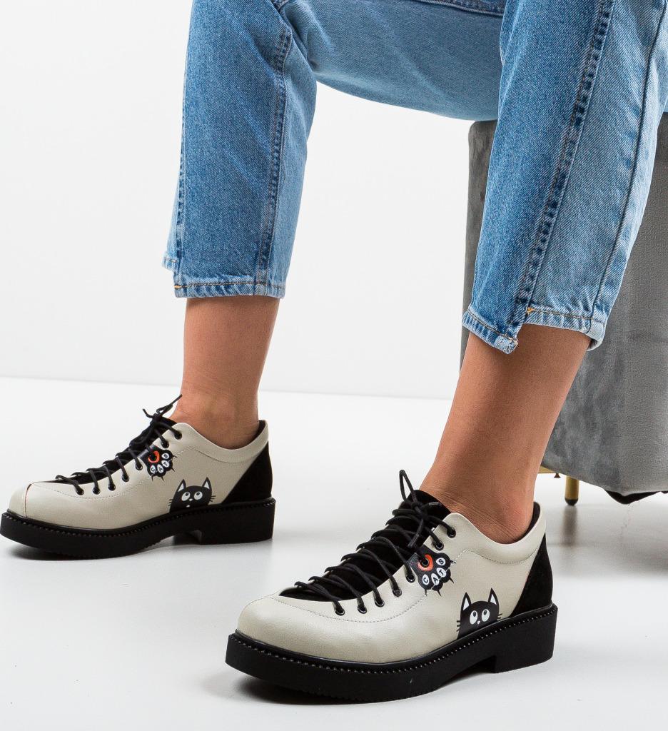 Pantofi Casual Kitty Bej 2