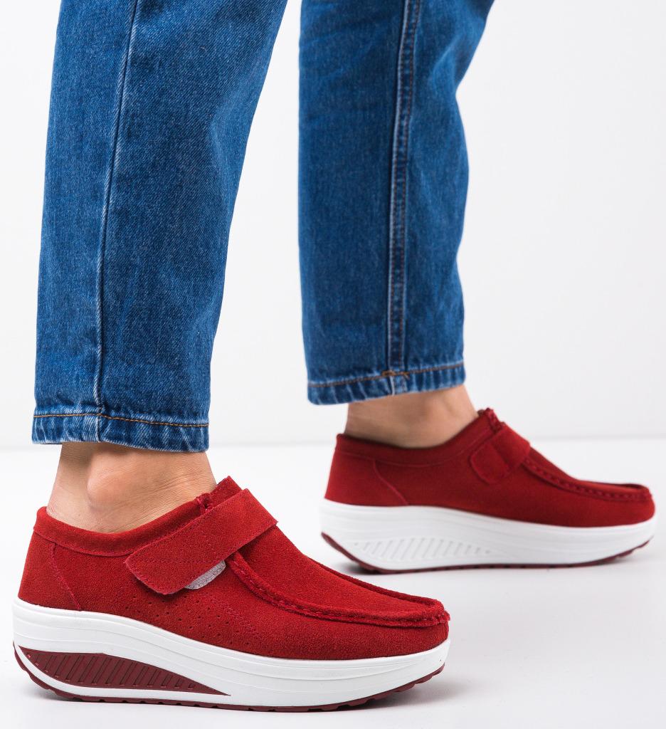 Pantofi Casual Marko Rosii 2