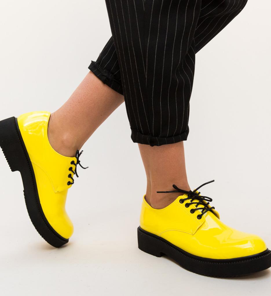 Pantofi Casual Masco Galbeni