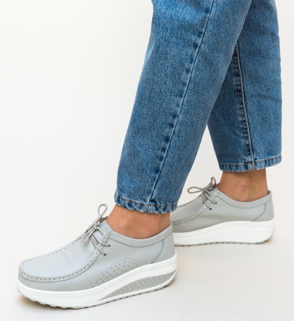 Pantofi Casual Roly Gri