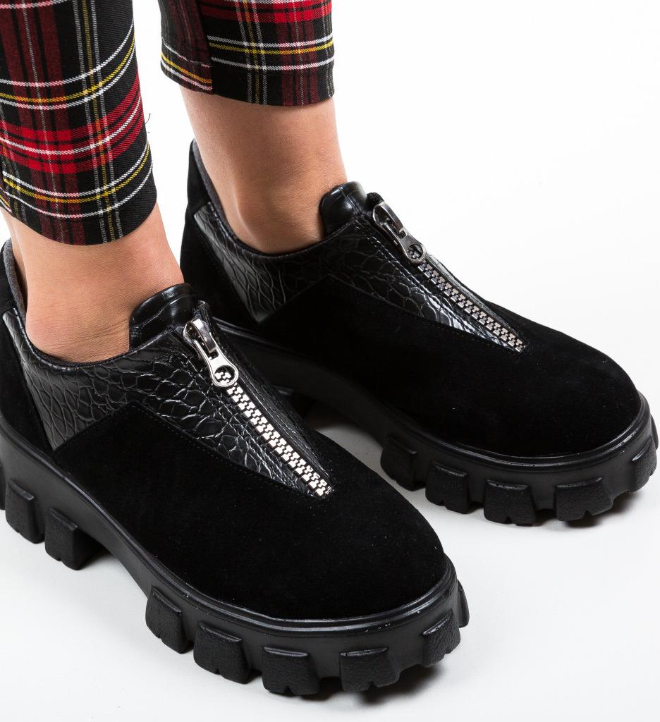 Pantofi Casual Skioha Negri 3