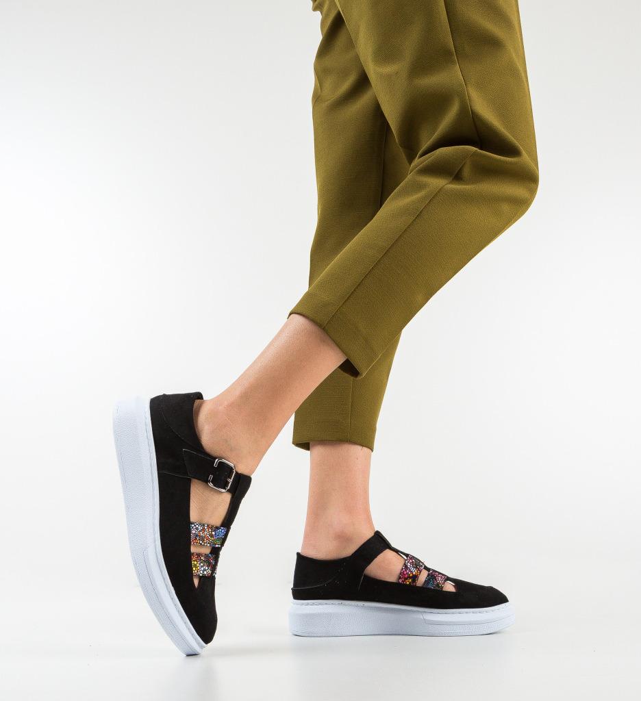 Pantofi Casual Sonicx Negri