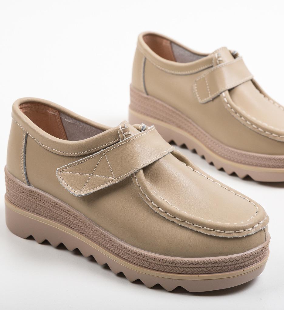 Pantofi Casual Straif Bej