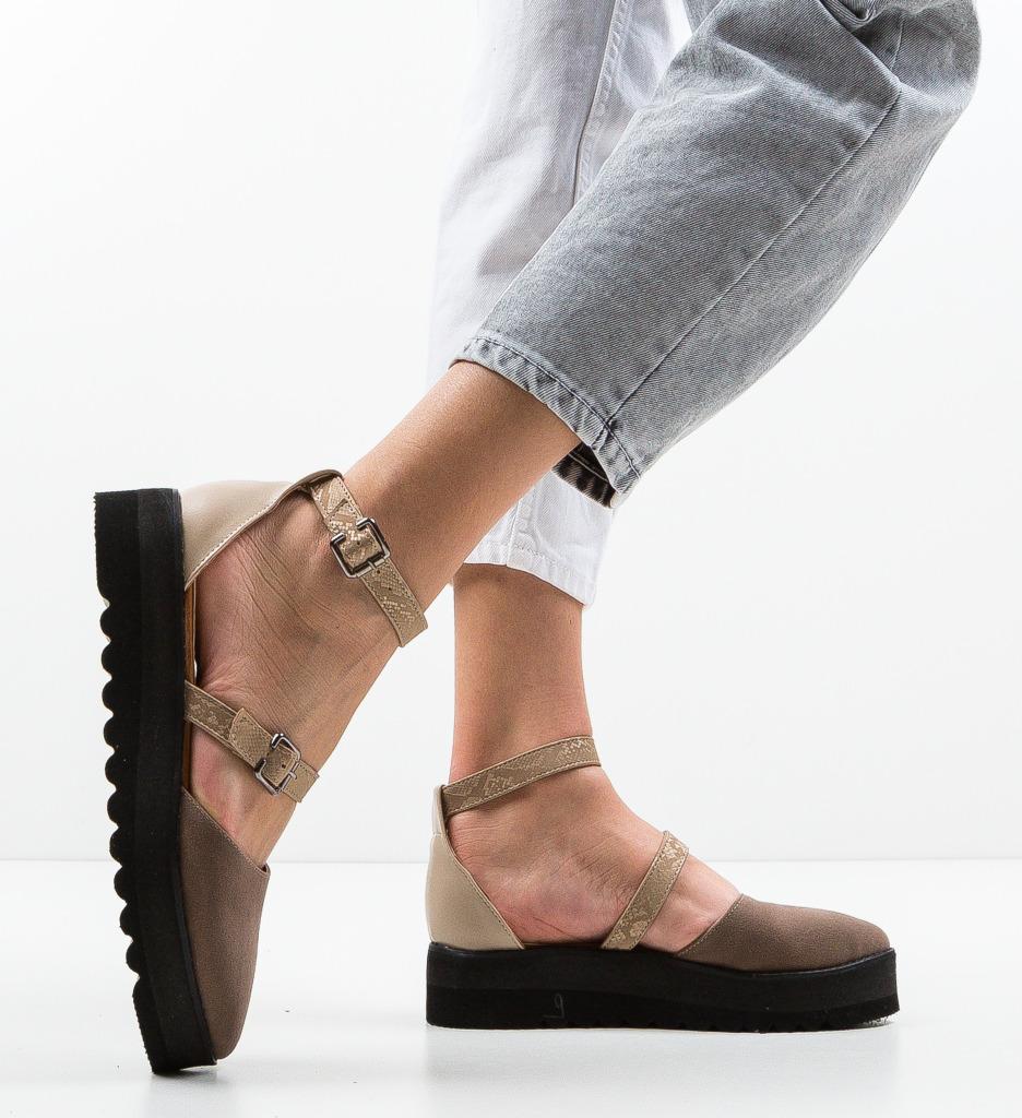 Pantofi Casual Tobaco Bej