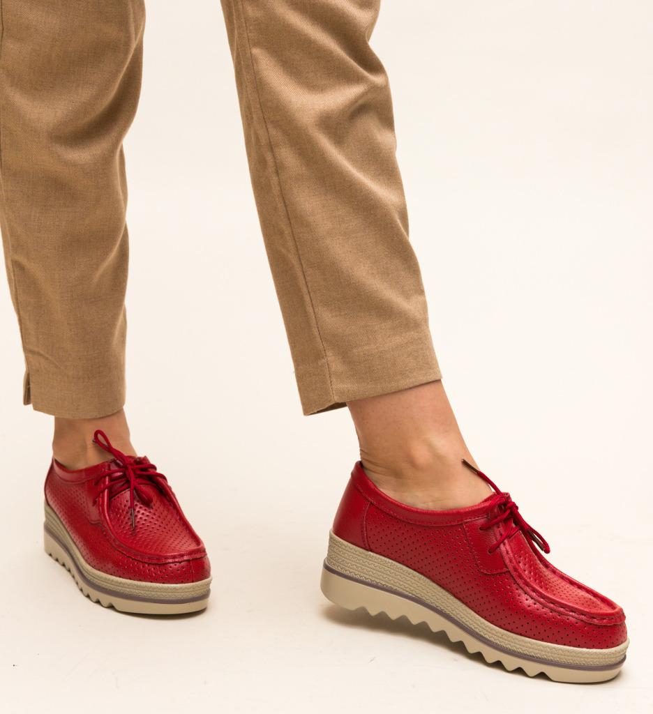 Pantofi Casual Torino Rosii imagine