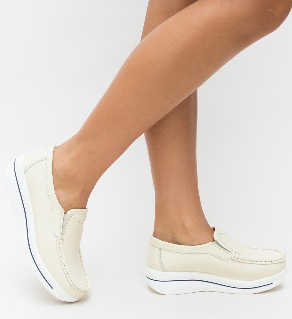 Pantofi Casual Verno Bej imagine
