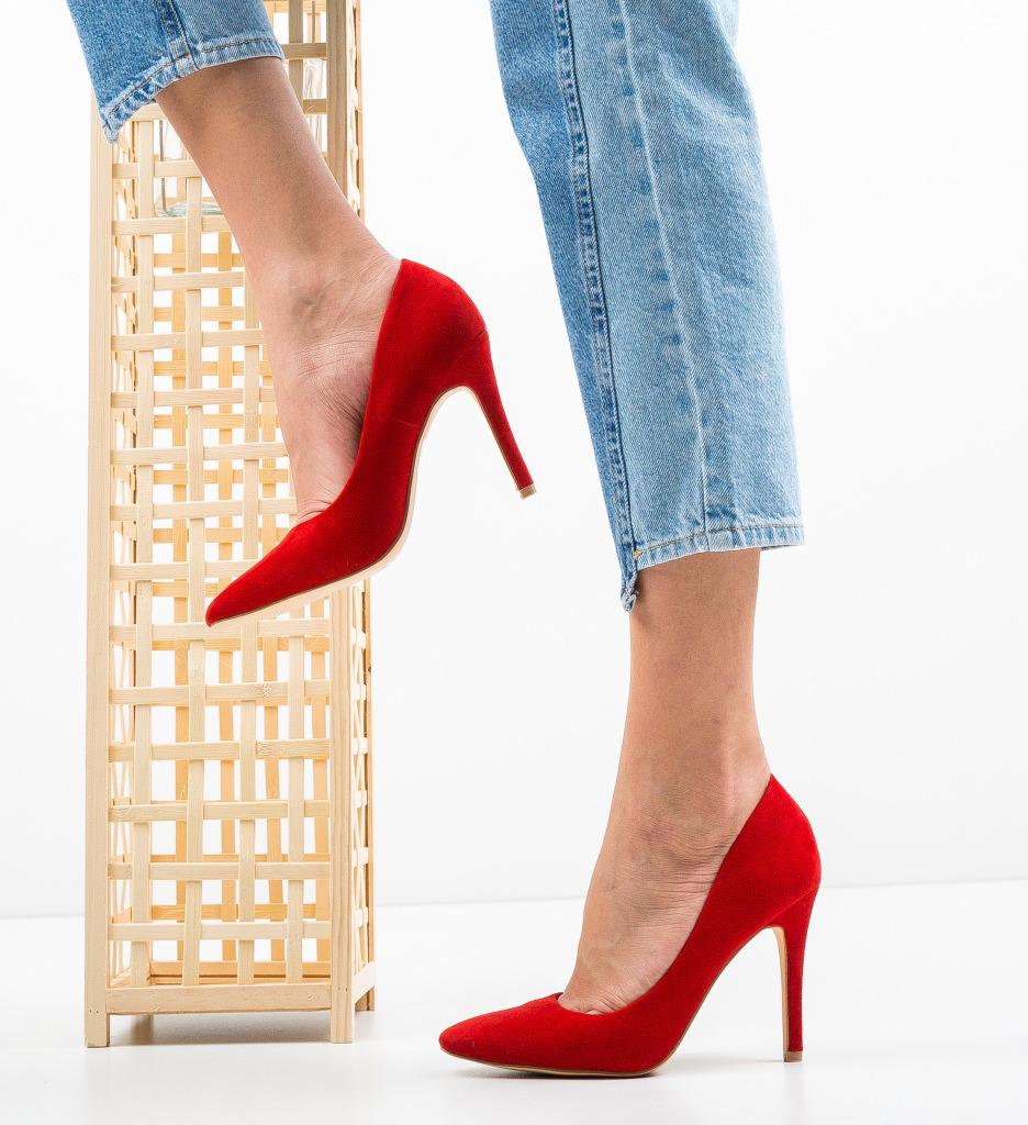 Pantofi Cerys Rosii