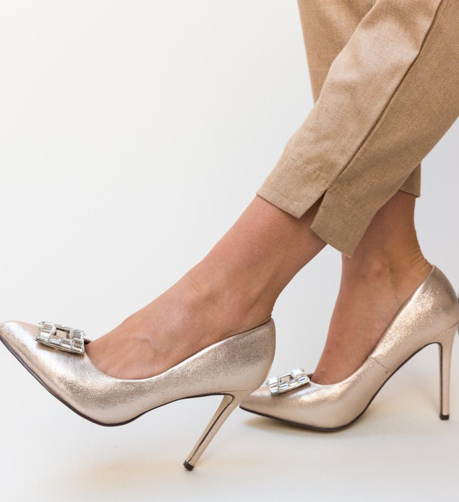 Pantofi Dylon Aurii imagine 2021